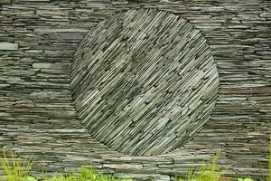 An Andy Goldsworthy art instalation in a sheep fold at Tilberthwaite in the Lake