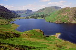 Buttermere and Crummock Water in the Lake district UK