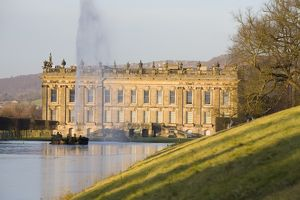 Chatsworth House in Derbyshire UK