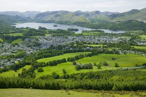 Keswick from Latrigg in the Lake District UK